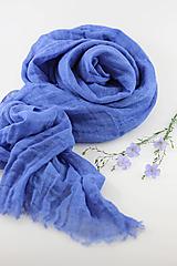 """Šatky - Veľká jemná ľanová šatka """"BlueLinen"""" - 10839156_"""