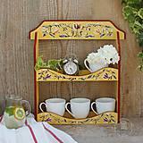 Nábytok - Ručne maľovaná polička - 10840561_