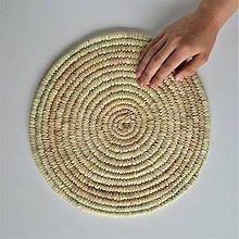 Pomôcky - Ručne pletená podložka z palmových listov+doprava zdarma - 10840161_