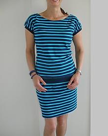 Šaty - Pruhované šaty...vel.S - XXL...(M-ihned) - 10840207_