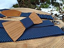 Doplnky - Pánsky set - drevený motýlik a traky - 10838571_