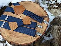 Doplnky - Pánsky set - drevený motýlik a traky - 10838572_