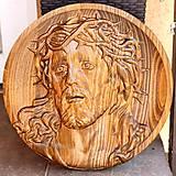 Grafika - Drevorezba Ježiš Kristus 2 - 10840250_