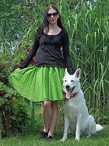 Sukne - Opravdická kolová - zelené paisley - 10838060_