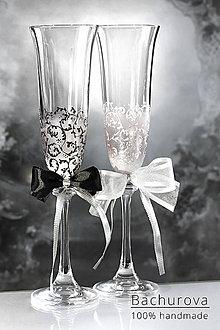 Nádoby - Svadobné poháre - 10838789_