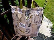 Nákupné tašky - Hortenzie - taška - na nákup - 10839388_