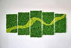 Obrazy - Machový obraz Green Line - 10838604_