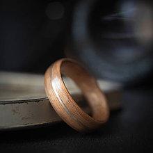 Prstene - drevená svadobná obrúčka - čerešňa / orech - 10839250_