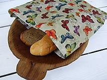 Úžitkový textil - voskované vrecko motýľ - 10839843_