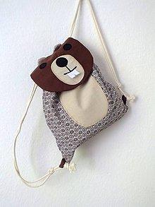 Detské tašky - Detský ruksak zvieratko - Bobor - 10840453_