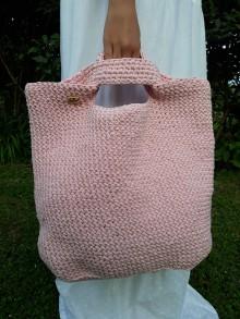 Veľké tašky - Ružová taška - tote bag - 10840081_