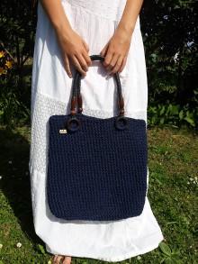 Kabelky - Modrá kabelka - toutka :) s pevným uchopením - 10840163_