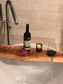 Nábytok - Relaxačná drevená doska do vane - 10840179_