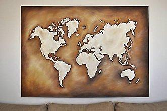 Obrazy - Mapa sveta - 10840538_