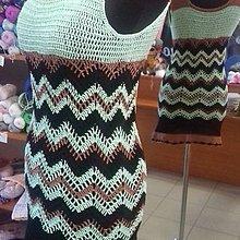 Šaty - Háčkované minišaty - 10839784_
