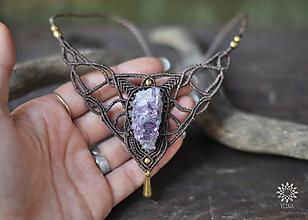 Náhrdelníky - Makramé náhrdelník :: LILITH :: - 10838350_