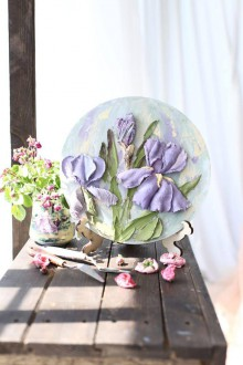 Obrazy - iris - sculpture painting - 10839124_