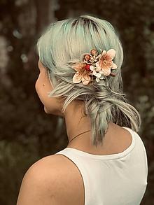 Ozdoby do vlasov - malinový sen - 10839221_