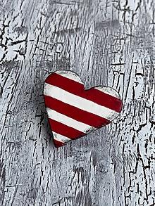 Odznaky/Brošne - menšia námornícka brošňa - červené pásiky - 10838726_