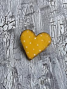 Odznaky/Brošne - bodkovaná brošňa (menšia žltá) - 10838816_