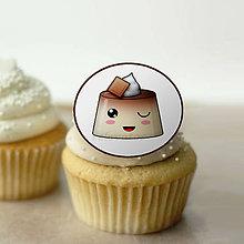 Dekorácie - Puding(želé?) žmurkajúci - grafika na koláč (kakaový) - 10840254_