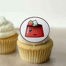 Dekorácie - Puding(želé?) žmurkajúci - grafika na koláč (jahodový) - 10840257_
