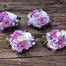 Dekorácie - Dekoračné kytičky na svadobné stoly - 10841146_
