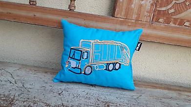 Textil - smetiarske auto - vankúšik - 10843239_