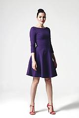 Šaty - Šaty fialové s polkruhovou sukňou - 10840816_