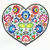 Papier - S1020 - Servítky - folk, foklór, ľudový  motív, polish folk, ornament - 10841764_