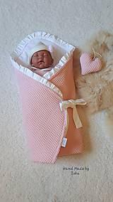Textil - Volánová zavinovačka :  ružová vafle bavlna/ 100% bavlna - 10842578_
