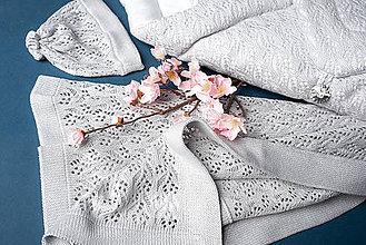 """Textil - Zavinovačka, deka, čiapočka, """"Miss"""", OEKO-TEX® - šedá - 10841581_"""