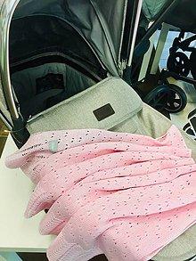 """Textil - Detská deka, """"Daisy"""",OEKO-TEX® - Ružová - 10841645_"""