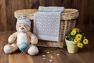 """Textil - Detská deka na leto, """"Miss"""", OEKO-TEX® - šedá - 10841725_"""