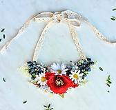 Náhrdelníky - Lúčny kvetinový náhrdelník - 10840978_
