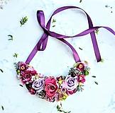 Náhrdelníky - Kvetinový náhrdelník - 10842120_