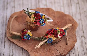 Ozdoby do vlasov - Detská kvetinová čelenka s kláskom - 10843040_