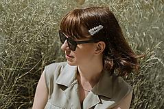 Ozdoby do vlasov - perlové sponky - 10840965_