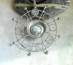 Náhrdelníky - Mandala klidu /larimar/ - 10841256_