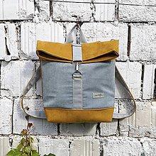 Batohy - Batoh Alex (šedo-žltý) - 10841011_