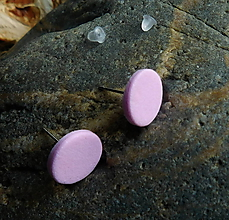 Náušnice - napichovačky ružové - 10841284_