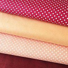 Textil - broskyňové bodky, 100 % bavlna Čechy, šírka 140 cm - 10841353_