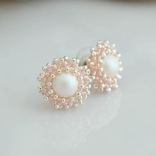 Náušnice - Powder pearl - 10842286_
