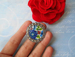 Odznaky/Brošne - Kvietkovaná brošňa - 10843183_