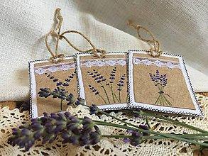 Papiernictvo - Levanduľa - darčekové kartičky - 10842123_