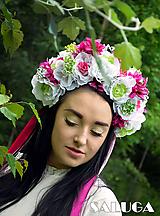 Ozdoby do vlasov - Kvetinová parta - cyklamenová - biela - 10842758_