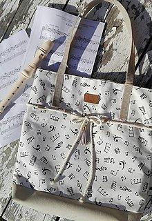 Veľké tašky - Kabelko-taška pre pani učiteľku ZUŠ - 10843047_
