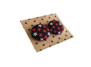 Náušnice - Buttonky z autorskej látky VII - 10841494_