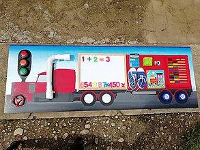 Hračky - Activity board - kamión - 10843019_