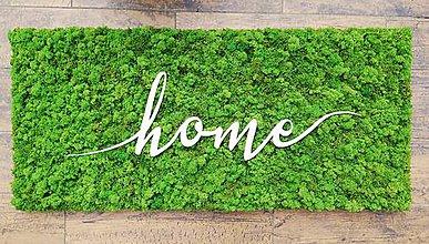 Dekorácie - Machový obraz Home 110x50cm - 10841073_